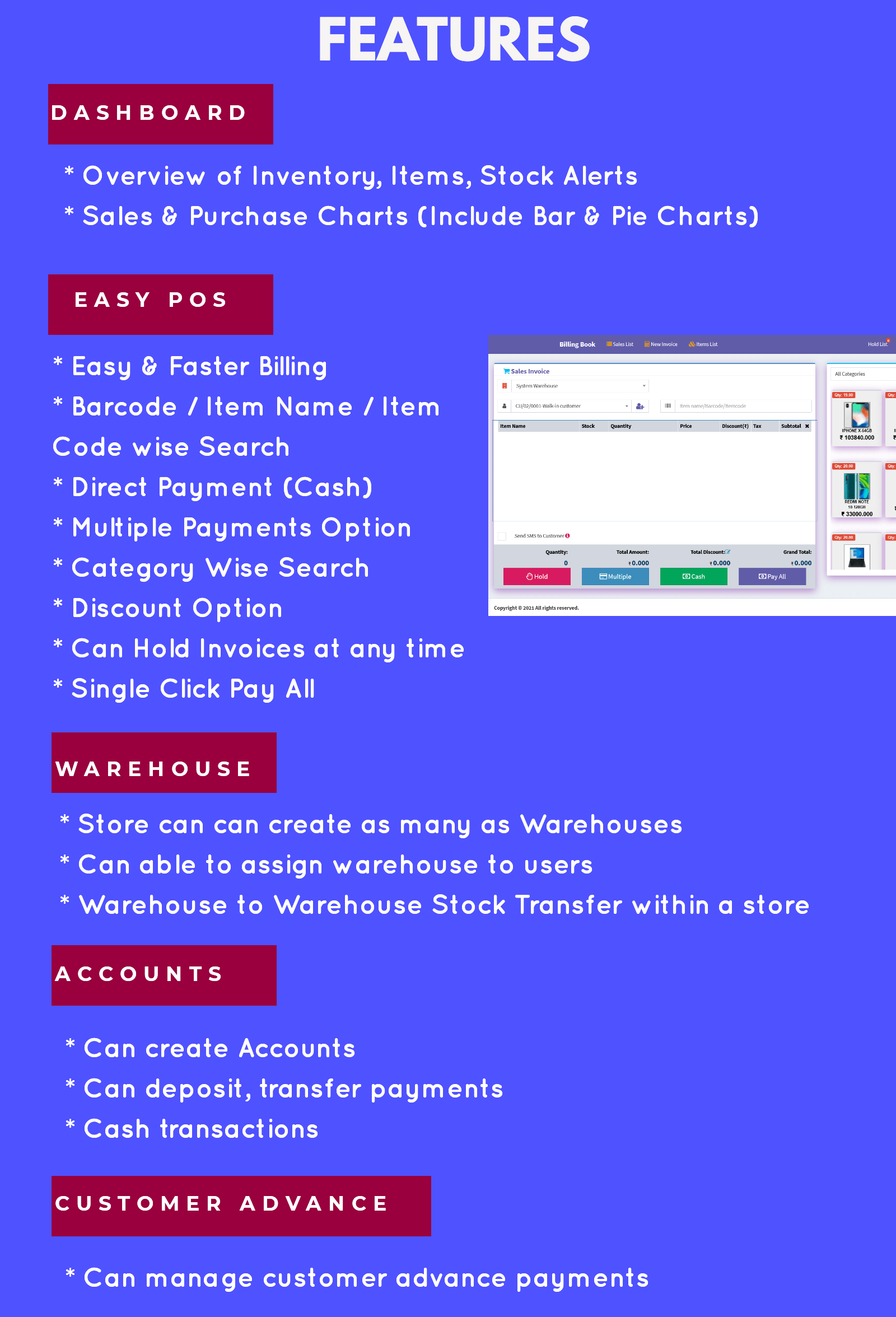 Billing Book -Ultimate Inventory management & Billing Software with POS - 1