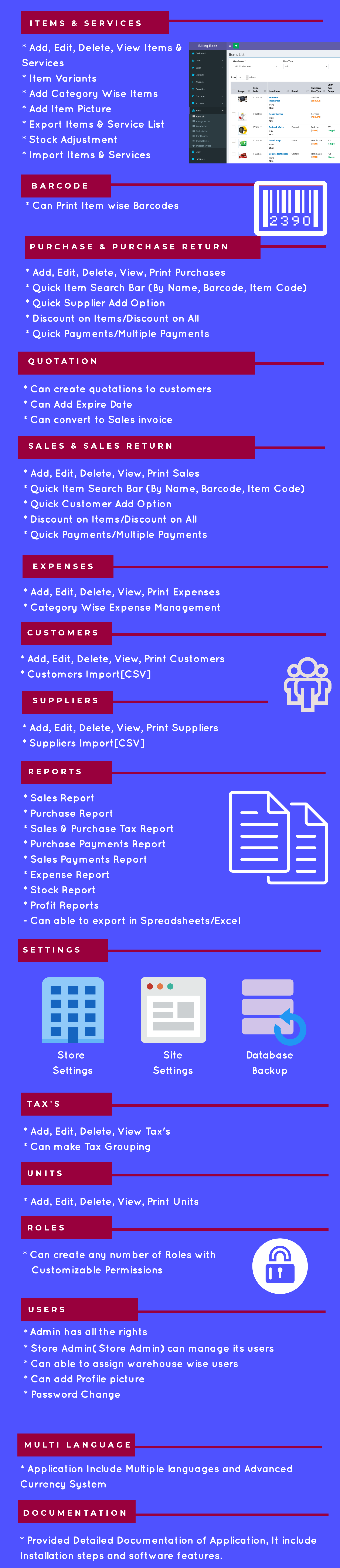 Billing Book -Ultimate Inventory management & Billing Software with POS - 2